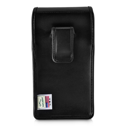 Google Pixel 3A (2019) Vertical Belt Case Black Leather Pouch with Executive Belt Clip