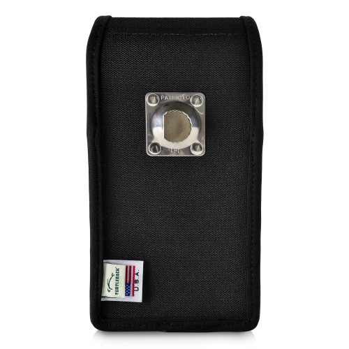 Google Pixel 3 (2019)  Vertical Holster Black Nylon Pouch with Heavy Duty Rotating Belt Clip