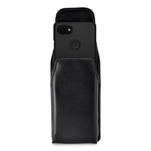 Holster for Google Pixel 3 XL and Pixel 3A XL (2019) Vertical Belt Case Leather Pouch w/ Executive Belt Clip