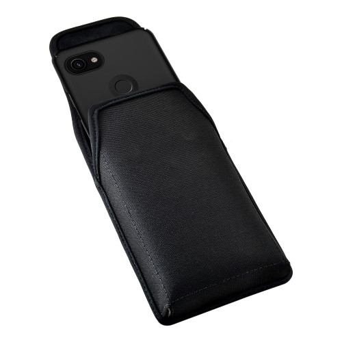 Holster for Google Pixel 3 XL and Pixel 3A XL (2019) Vertical Nylon Pouch with Heavy Duty Rotating Belt Clip