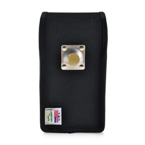 Galaxy S10+ Plus Fits with OTTERBOX COMMUTER Vertical Holster Black Nylon Pouch Rotating Belt Clip