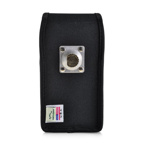 Galaxy S10 Fits with OTTERBOX SYMMETRY Vertical Holster Black Nylon Pouch Rotating Belt Clip