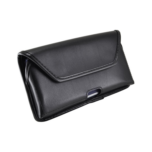 Samsung Galaxy Note 10 (2019) Belt Holster Black Leather Pouch with Heavy Duty Rotating Belt Clip, Horizontal