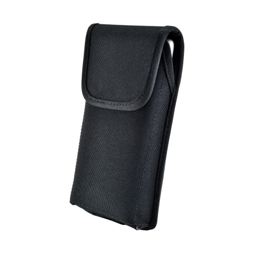 Samsung Galaxy Note 10 (2019) Vertical Holster Black Nylon Pouch with Heavy Duty Rotating Belt Clip