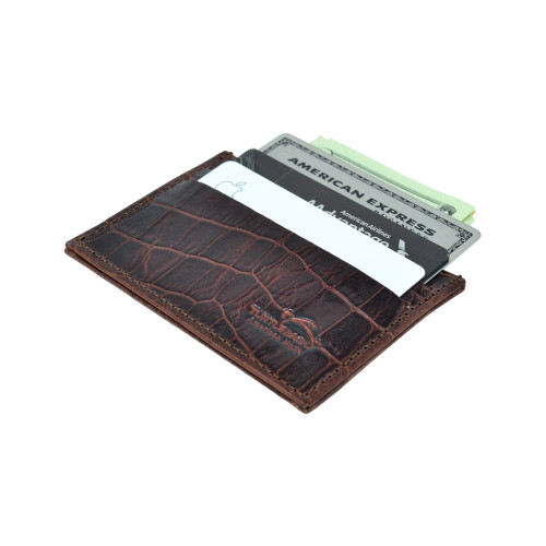 Front Pocket Wallet Minimalist Slim Card Holder with RFID Blocking for Men Women Purse Thin Genuine BLACK Leather