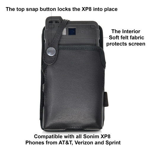 Magnetic Body Camera Holder for Sonim XP8, Chest Vest Holster in Black, Made in USA