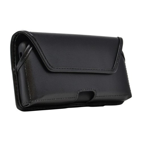 Galaxy S20 Belt Case Black Leather Pouch Executive Belt Clip, Horizontal