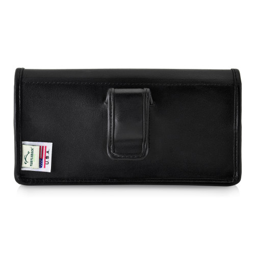 Galaxy S20 Ultra Belt Case Black Leather Pouch Executive Belt Clip, Horizontal