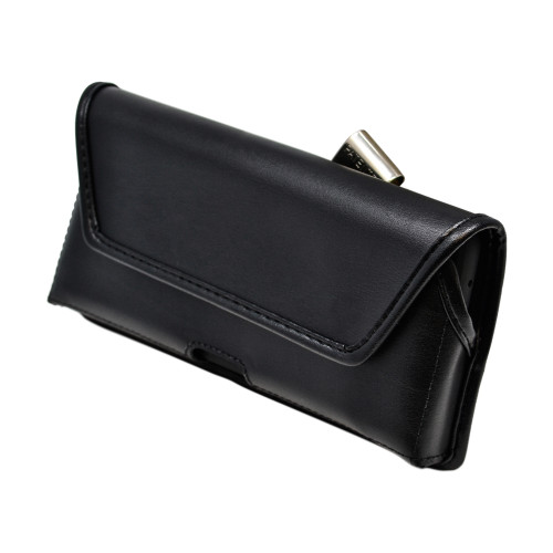 Galaxy S20 Ultra Belt Holster Black Leather Pouch Rotating Belt Clip Horizontal