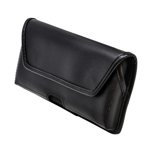 Galaxy S20+ Plus Belt Case Black Leather Pouch Executive Belt Clip Horizontal
