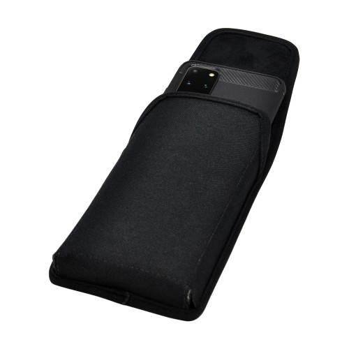 Galaxy S20+ Plus Vertical Holster Black Nylon Pouch Rotating Belt Clip
