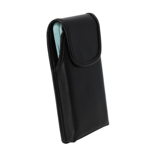 Galaxy S20 w/Otterbox Commuter Vertical Belt Case Black Leather Pouch Executive Belt Clip