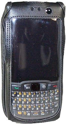 Motorola ES400 Black Leather Phone Case with Removable Metal Belt Clip