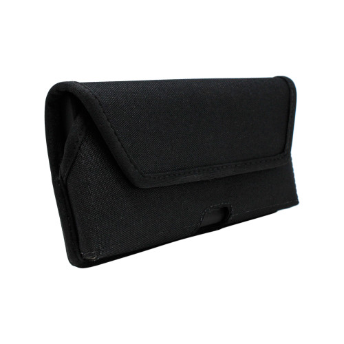 Samsung Galaxy Note 20 Ultra Belt Holster Black Nylon Pouch with Heavy Duty Rotating Belt Clip, Horizontal