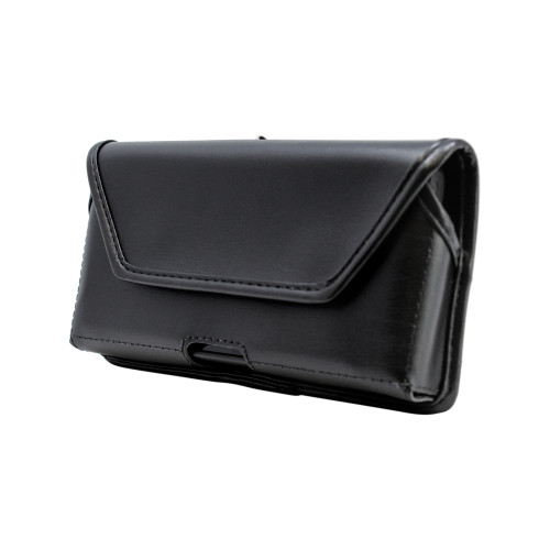 Motorola Lex L11 Belt Holster Case Black Leather Pouch with Executive Belt Clip, Horizontal