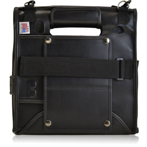 Motion F5 / C5 Tablet Black Leather Fitted Case with Removable Strap