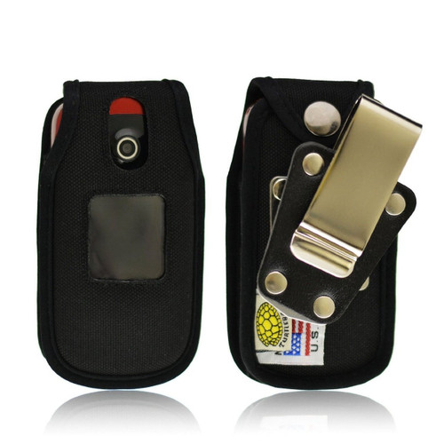 Samsung Crono 2 R270 Heavy Duty Nylon Phone Case with Rotating Removable Metal Clip