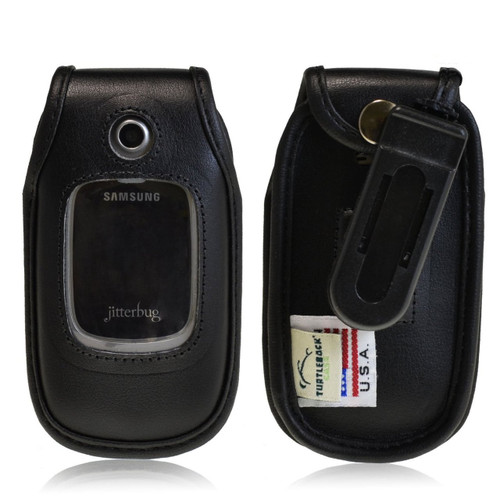 Greatcall R220 Jitterbug Plus Fitted Cellphone E Leather Case with Ratcheting Belt Clip