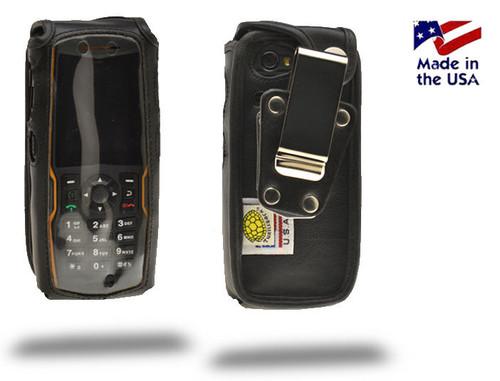 Sonim XPStrike  Heavy Duty Leather Fitted Case, Metal Belt Clip by Turtleback