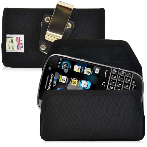Blackberry Classic Q20 Horizontal Nylon Holster, Metal Belt Clip