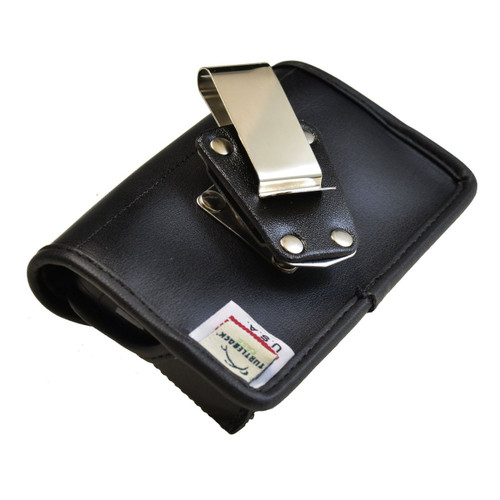 Blackberry Z10 Horizontal Leather Holster, Metal Belt Clip, Snap Closure