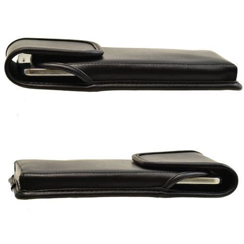 Google Nexus 6 Vertical Leather Holster, Metal Belt Clip