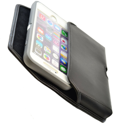 iPhone 6 Plus/6S Plus Extended  Horizontal Leather Fixed Clip Holster