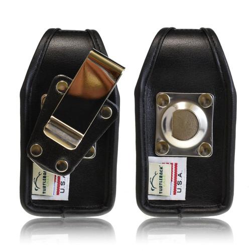 Kyocera DuraXT E4277 Leather Holster, Metal Belt Clip, Snap Closure