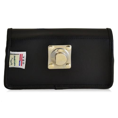 Motorola Droid Turbo Horizontal Leather Holster, Metal Belt Clip