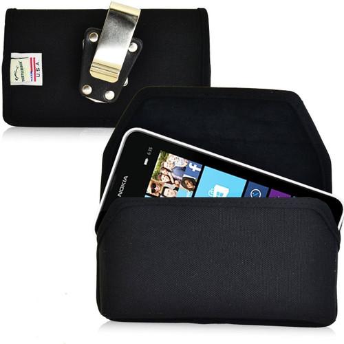 Nokia Lumia 635 Horizontal Nylon Holster, Metal Belt Clip