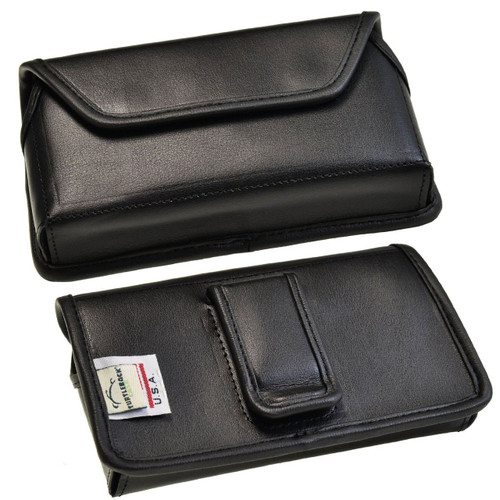 Note 4 Horizontal Leather Fixed Clip Holster