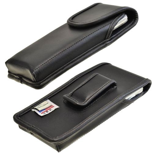 Samsung Galaxy S5 Vertical Leather Holster, Black Belt Clip