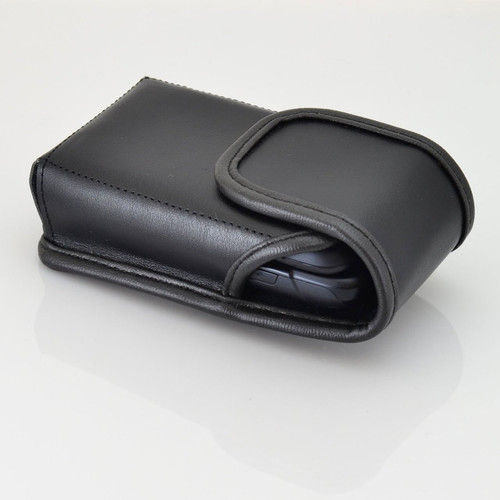 Samsung Rugby 4 Vertical Leather Holster, Metal Belt Clip