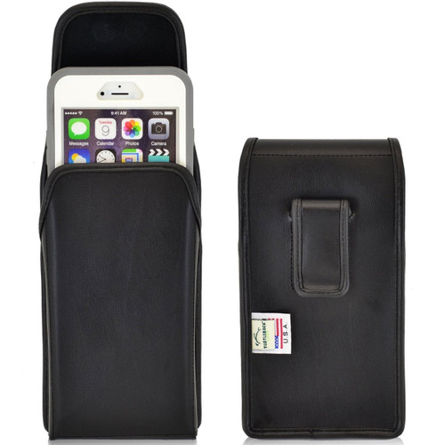 iPhone 6 Plus/6S Plus Extended  Vertical Leather Fixed Clip Holster