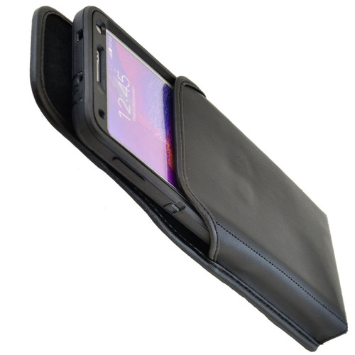 Note 4 Extended Vertical Leather Rotating Clip Holster