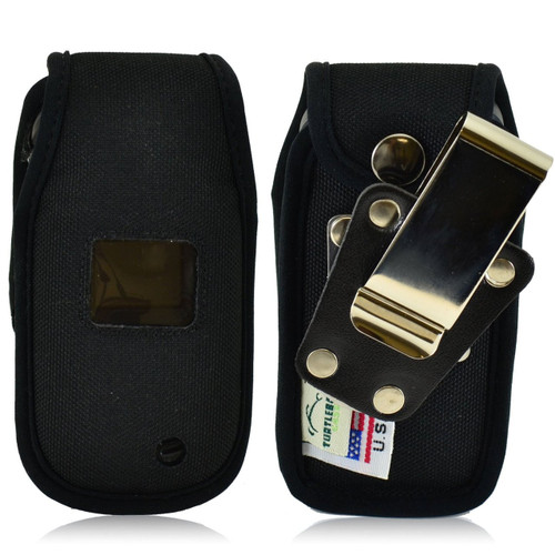 LG Envoy 3 un170 Heavy Duty Nylon Phone Case with Rotating Metal Belt Clip