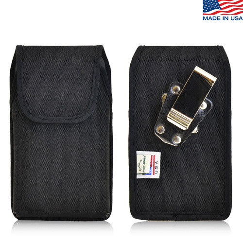 6.75 x 3.50 x 0.50in - Vertical Nylon Holster, Metal Belt Clip