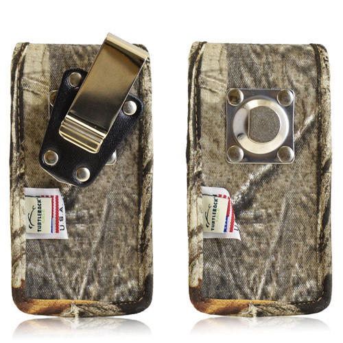5.00 X 2.37 X 0.50in - Vertical Camouflage Nylon Holster, Metal Belt Clip