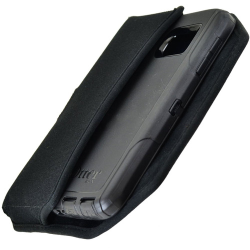 Horizontal Nylon Extended Holster for HTC One M9 with Bulky Cases, Metal Belt Clip