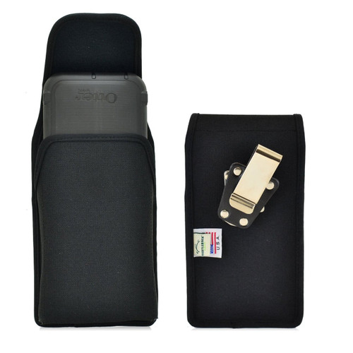 Vertical Nylon Extended Holster for HTC One M9 with Bulky Cases, Metal Belt Clip