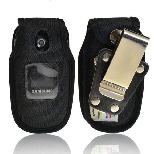 Samsung U365 Gusto 2 Heavy Duty Nylon Fitted Case with Rotating Removable Metal Clip
