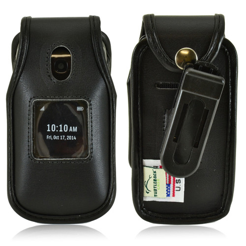 Alcatel ONETOUCH Retro Leather Fitted Phone Case, Ratcheting Belt Clip