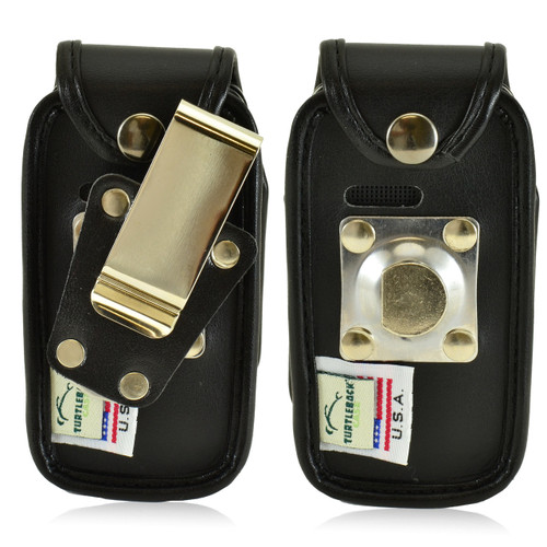 Alcatel ONETOUCH Retro Leather Fitted Phone Case, Metal Belt Clip