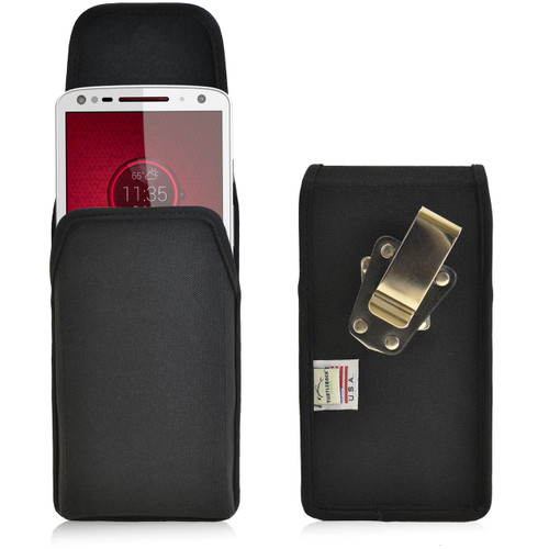 Droid Turbo 2 Vertical Nylon Holster Metal Clip