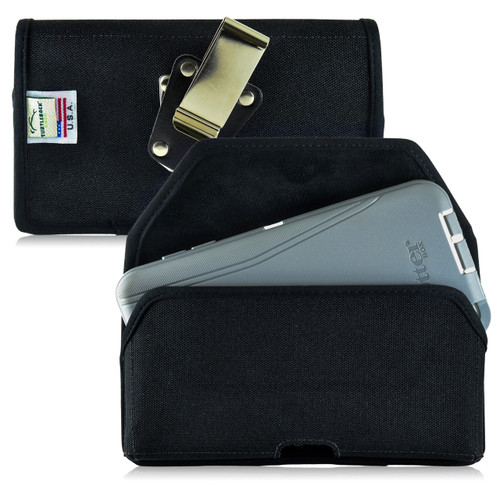 Droid Turbo 2 Nylon Holster Metal Clip Fits Bulk Cases