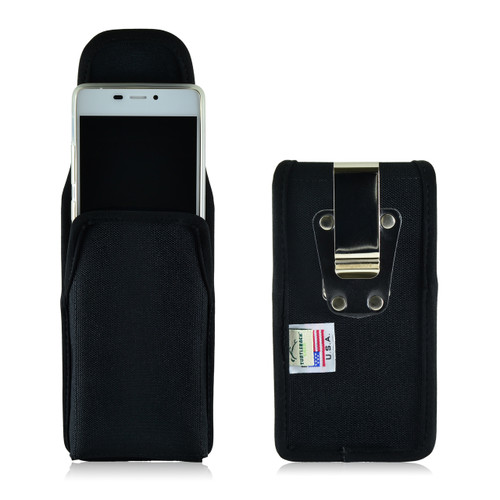 BLU Vivo Air Vertical Nylon Holster Case Metal Clip