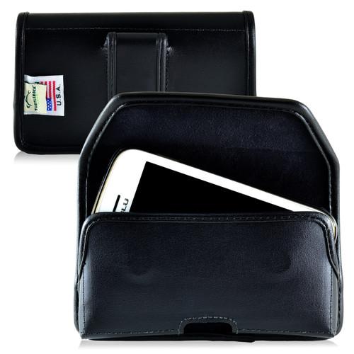 BLU Advance 4.0 Leather Holster Case Black Belt Clip