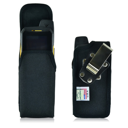 Sonim XP6 Vertical Nylon Holster Pouch, Metal Belt Clip by Turtleback