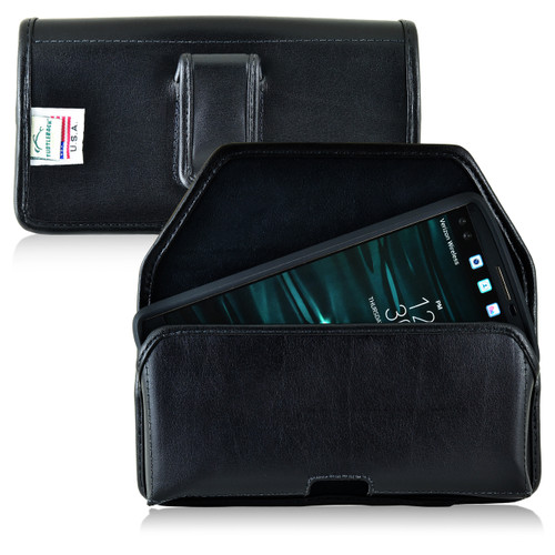 LG V10 Leather Holster Case Black Belt Clip