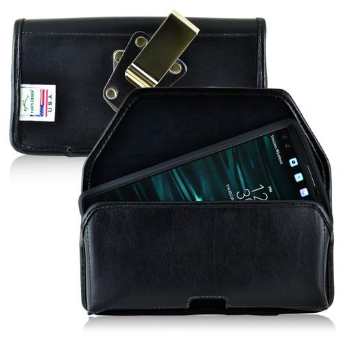 LG V10 Leather Holster Case Metal Belt Clip